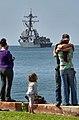 USS Chung-Hoon deploys. (8621841237).jpg