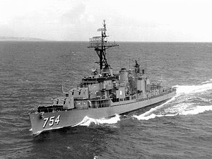 USS Frank E. Evans - USS Frank E. Evans at sea, April 1963