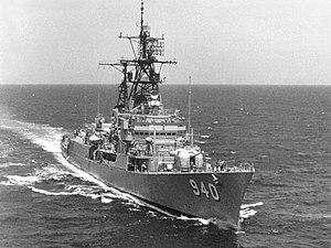 USS Manley (DD-940) - USS Manley (DD-940), August 1975