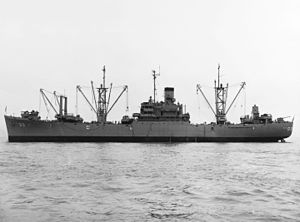 Andromeda-class attack cargo ship - Image: USS Rolette (AKA 99) in San Francisco Bay on 7 April 1952