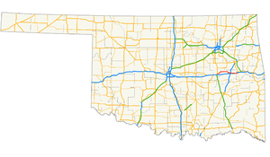 U.S. Route 266 - Image: US 266 (Oklahoma) map