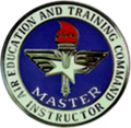 US Air Force Air Education and Training Command Master Instructor Badge.png