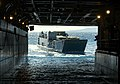 US Navy 040706-N-4304S-125 A Landing Craft Utility (LCU) approaches the well deck of amphibious assault ship USS Tarawa (LHA 1).jpg