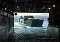 US Navy 040706-N-4304S-125 A Landing Craft Utility (LCU) approaches the well deck of amphibious assault ship USS Tarawa (LHA 1).jpg