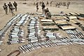 US Navy 050303-M-7981G-010 Ammunition recovered at a weapons cache found south of Khrma, Iraq by U.S. Marines assigned to A Company, Combat Engineers, attached to 3rd Battalion, 8th Marines, 1st Marine Division.jpg