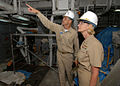 US Navy 071001-N-4399G-012 Rear Adm. Carol M. Pottenger, commander of Amphibious Force 7th Fleet, tours the USS Blue Ridge (LCC 19) with Commanding Officer David A. Lausman.jpg