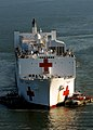 US Navy 071015-N-6278K-284 Military Sealift Command (MSC) hospital ship USNS Comfort (T-AH 20) arrives at Naval Station Norfolk after a four-month humanitarian deployment to 12 countries in Latin America and the Caribbean.jpg