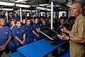 US Navy 080820-G-1103J-509 Rear Adm. Joe Leidig addresses the crew of the U.S. Coast Guard Cutter Dallas (WHEC 716).jpg