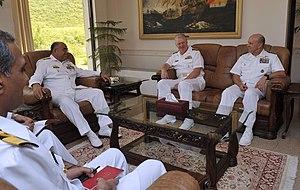 Noman Bashir - CNS Admiral Bashir meeting with American CNO Admiral Gary Roughead.