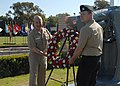 US Navy 110603-N-HW158-021 Rear Adm. Mathias W. Winter and Culinary Specialist 2nd Class Richard Coggins lay a wreath to commemorate the 69th anniv.jpg