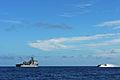 US Navy 111011-N-MW330-352 Landing Craft Air Cushion (LCAC) 9 heads towards the forward deployed amphibious dock landing ship USS Germantown (LSD 4.jpg