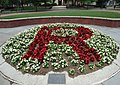 UU Rutgers University flowers form a giant R College Avenue campus.JPG