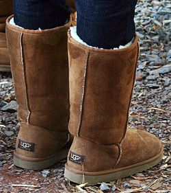 A pair of UGG Australia boots from the United States where the name is trademarked.