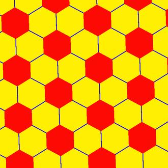 Truncated order-7 triangular tiling - Image: Uniform tiling 63 t 12