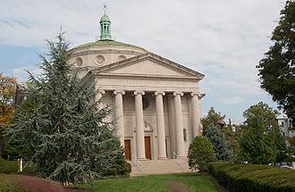 Charles Street (Baltimore) - University Baptist Church across from Johns Hopkins University