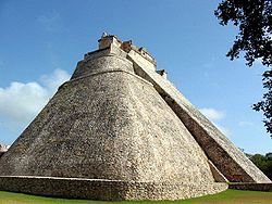 Adivino (Pyramid of the Magician) at the entrance to Uxmal