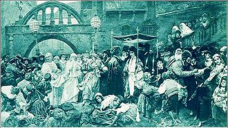 Jewish wedding - Traditional nissu'in in Eastern Europe during the 19th century