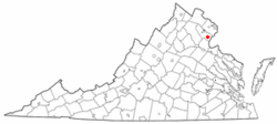 Location of Montclair, Virginia