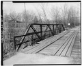 VIEW OF EAST SIDE OF TRUSS - County Road 130 Bridge, Spanning Gulf Creek, Rising Fawn, Dade County, GA HAER GA,42-RIFA.V,1-4.tif