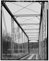VIEW OF INTERIOR WEB, LOOKING NORTH - Red Bridge, Spanning North Benson Creek, Frankfort, Franklin County, KY HAER KY,37-FRAFO.V,1-5.tif