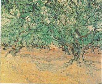 Lamanon - Oliveraie des Alpilles Vincent van Gogh September 1889