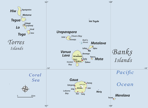 Torba Province - Detailed map of Torba province (Torres-Banks)