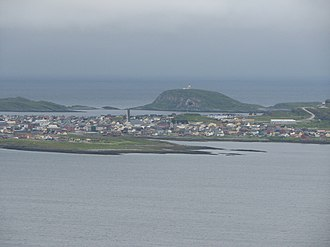 Vardø (town) - View of the town from the mainland