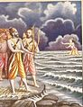 Varuna himself arose from the depth of the ocean and begged to forgive Rama.jpg