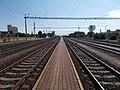 Vasútállomás, végponti felől kezdőpont felé nézve, malmok, 2019 Csorna.jpg