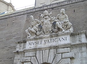 Culture of Vatican City - Entrance to Vatican Museum