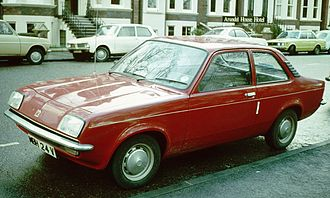 Vauxhall Chevette - A minor facelift in 1979 included flush fitting headlights applied to the front of the car and plastic trims to highlight the extractor vents on the rear pillars of the saloon Chevette.