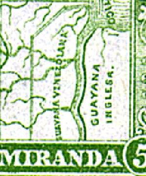 History of Venezuela (1830–1908) - Image: Venezuela guiana 1896