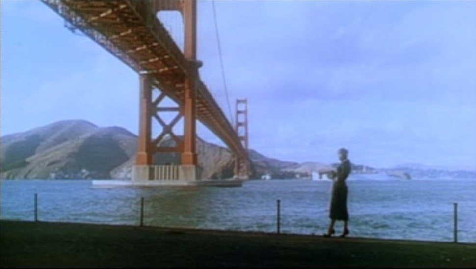 Vertigo 1958 trailer Kim Novak at Golden Gate Bridge Fort Point