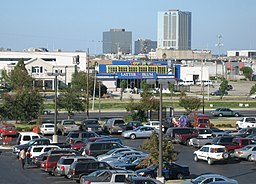 View of Veterans Memorial Boulevard towards Lake Pontchartrain from the parking area on the roof of Lowe's Home Improvement Hardware Store