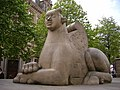 Victoria Square - Sphinx-like Guardian - near the former General Post Office.JPG
