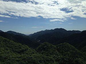 Jundu Mountains - Jundu Mountains with the Great Wall of China at Badaling in the horizon.