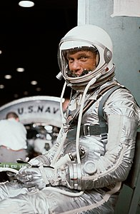 View of Astronaut John Glenn in his Mercury pressure suit.jpg
