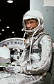 View of Astronaut John Glenn in his Mercury pressure suit.jpg