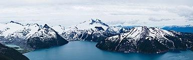 View towards Garibaldi Lake from Panorama Ridge (DSCF1842 - DSCF1844).jpg