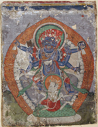 Ganesha in world religions - Vignantaka trampling Vinayaka