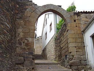 Vila Flor - One of the remaining archway gates of the walled city of Póvoa d´Álem Sabor