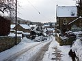 Village street in the snow, Beeley - geograph.org.uk - 1654454.jpg