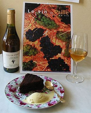 Dessert wine - Vin de Paille, a straw wine from France