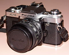Vintage Fujica AX-3 35mm SLR Film Camera, Made In Japan, Circa 1980s (13541542024).jpg