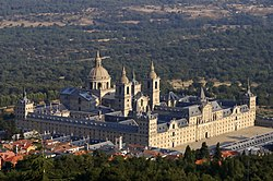 A distant view of the Royal Seat of San Lorenzo de El Escorial