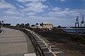Vistas del puerto y el castillo de San José desde la Carretera los Castillos 01.jpg