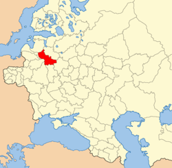 Vitebsk province on the map of the western part of the Russian Empire.png