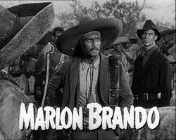 Brando as Emiliano Zapata in a trailer for the 1952 film Viva Zapata!