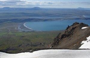 Vopnafjörður - The bay seen from the top of Krossavík Mountains.