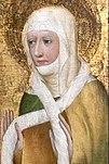 1370 civarında Prag Başpiskoposu Johann Očko von Wlaschim'in adak resminde Ludmilla